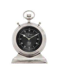 Alain Large Nickel Clock