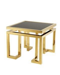EICHHOLTZ PALMER GOLD SIDE TABLE