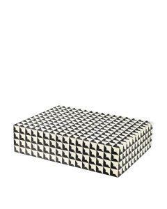 Cabas Large Black & White Box