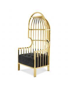 Bora Bora Gold & Black Velvet Chair