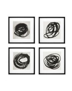 Black & White Collection Prints - Set of 4