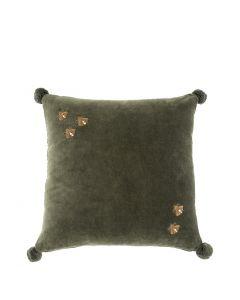 Salgado Green Velvet Pillow - 50 x 50cm