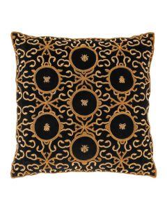 Figuet Black Velvet Pillow - 60 x 60cm