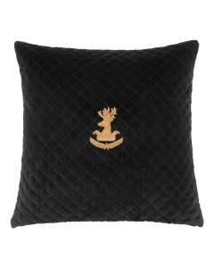 Aletti Black Velvet Pillow - 60 x 60cm