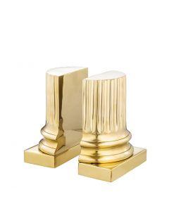 Pillar Brass Bookend - Set of 2
