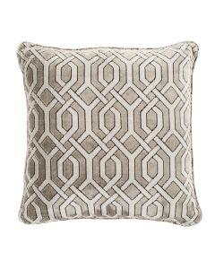 Trellis Grey Velvet Pillow