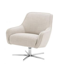 Eichholtz Serena Panama Natural Swivel Chair