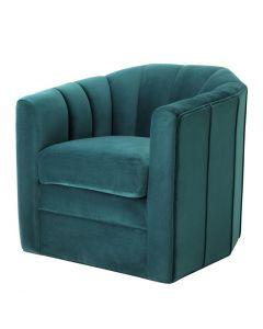Delancey Savona Sea Green Swivel Chair
