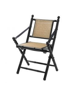 Bolsena Black & Natural Cane Folding Chair