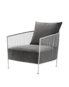 Eichholtz Knox Stainless Steel Chair