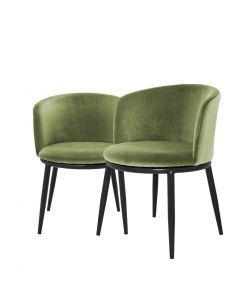 Filmore Cameron Light Green Dining Chair - Set of 2