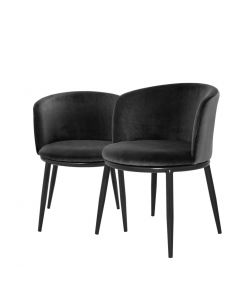 Filmore Cameron Black Dining Chair - Set of 2