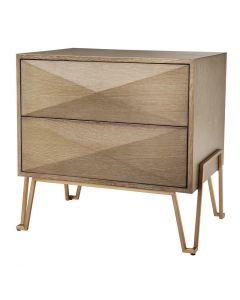 Highland Washed Oak Bed Side Table