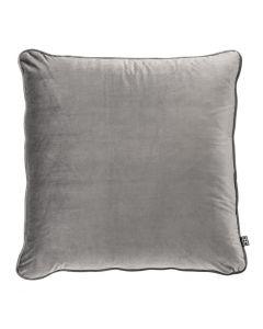 Roche Porpoise Grey Velvet Pillow - 60 x 60cm