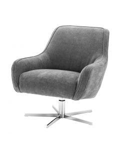 Eichholtz Serena Clarck Grey Swivel Chair