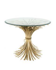 Bonheur Large Antique Gold Side Table