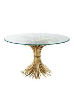 Bonheur Antique Gold Dining Table