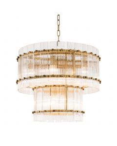 Ruby Small Antique Brass Chandelier