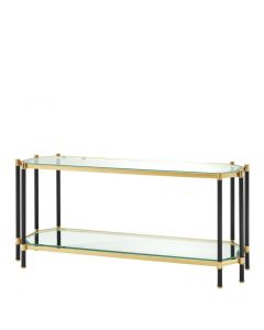 Florence Gold & Black Console Table