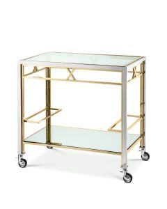 Lindon Polished Stainless Steel & Gold Trolle