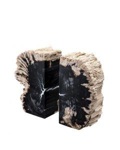 Opia Petrified Wood Bookend