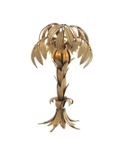 Hollywood Palm Brass Table Lamp