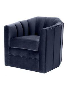 Delancey Savona Midnight Blue Swivel Chair