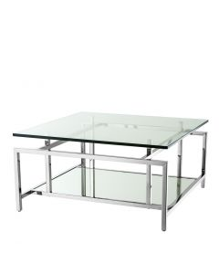 Superia Polished Stainless Steel Coffee Table