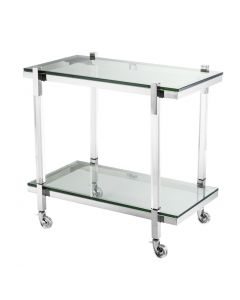 Royalton Acrylic & Polished Stainless Steel Trolley