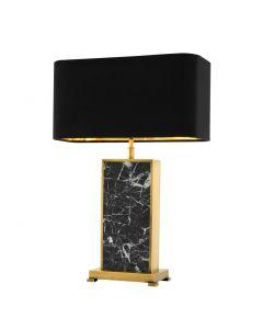 Arrive Black Marble & Brass Table Lamp