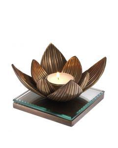Lotus Brass Tealight Holder