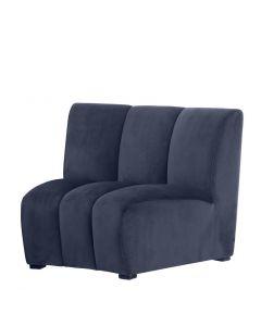 Lando Blue Velvet Sofa