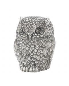Owl Antique Silver Box