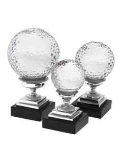 Divani Nickel & Glass Objects - Set of 3