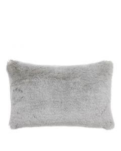 Alaska Light Grey Faux Fur Cushion