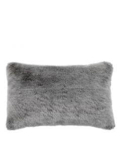 Alaska Grey Faux Fur Cushion