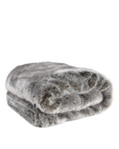 Alaska Grey Faux Fur Throw