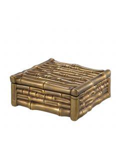 Bamboo Square Vintage Brass Box