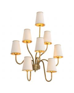 Bergerac Large Vintage Brass Wall Lamp