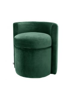 Arcadia Roche Dark Green Velvet Stool