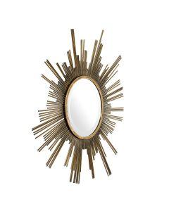 Nikki Vintage Brass Mirror