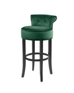 Sophia Loren Roche Dark Green Velvet Bar Stool