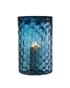 Aquila Large Blue Glass Hurricane