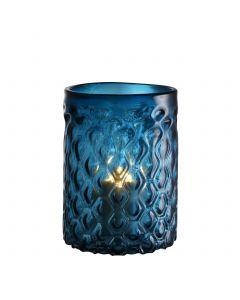 Aquila Small Blue Glass Hurricane