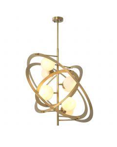 Space Antique Brass Chandelier
