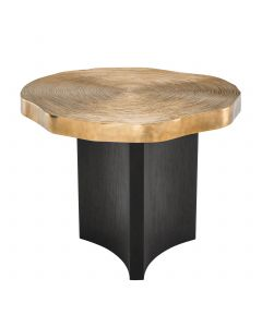 Thousand Oaks Brass & Black Side Table