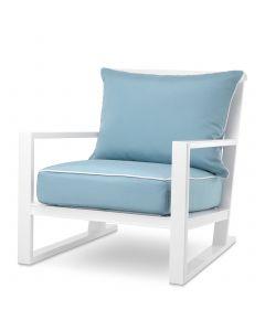 Como White Outdoor Armchair