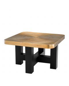 Agoura Brass & Black Coffee Table