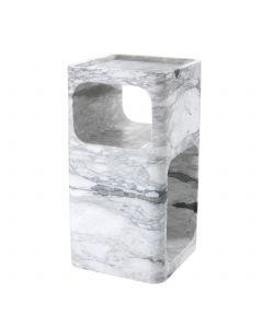 Adler White Marble Side Table