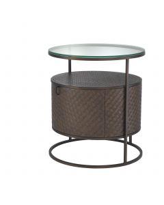 Napa Valley Woven Oak Bedside Table